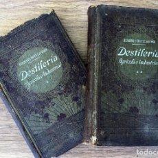 Libros antiguos: DESTILERIA AGRICOLA E INDUSTRIAL - EUGENIO BULLANGER LOTE OBRA COMPLETA 2 TOMOS. Lote 118810235