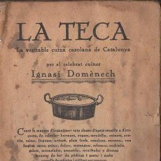 Livros antigos: IGNASI DOMÈNECH : LA TECA (BONET, QUINTILLA I CARDONA, S. F.). Lote 118880271