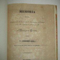 Libros antiguos: MEMORIA ESPOSITIVA, ACOMPAÑADA DE LOS PRINCIPALES...GIL, PEDRO. 1838. SALINAS. CATALUÑA.. Lote 118882339