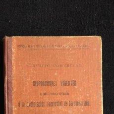 Libros antiguos: COMPAÑIA DE LOS FERROCARRILES DE MADRID A ZARAGOZA Y A ALICANTE DISPOSICIONES VIGENTES AÑO 1917. Lote 118906803