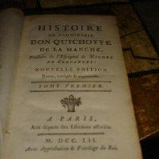 Libros antiguos: TOMO I LIBROS 1 2 Y 3 DE D. QUIJOTE DE LA MANCHA SIGLO XVIII EN FRANCES. Lote 118938511