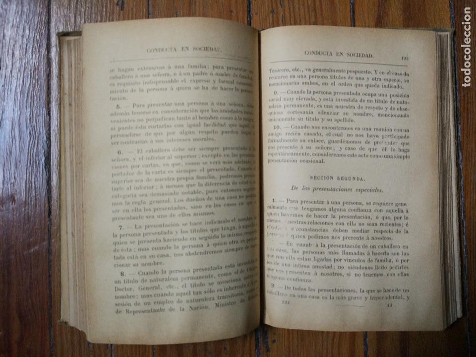 Libros antiguos: Manual de urbanidad y buenas maneras para uso de la juventud de ambos sexos. M. A. Carreño. 1899 - Foto 3 - 119004411
