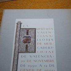 Libros antiguos: LA IMPRENTA VALENCIANA. Lote 119015579