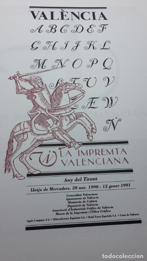Libros antiguos: LA IMPRENTA VALENCIANA - Foto 2 - 119015579