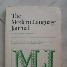 Libros antiguos: THE MODERN LANGUAGE JOURNAL. VOLUME 65, Nº 2. 1981.. Lote 119021247