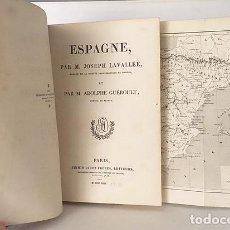 Libros antiguos: ESPAGNE (1844) LAVALLÉE : 2 MAPAS. 51 GRABADOS. . Lote 119101815
