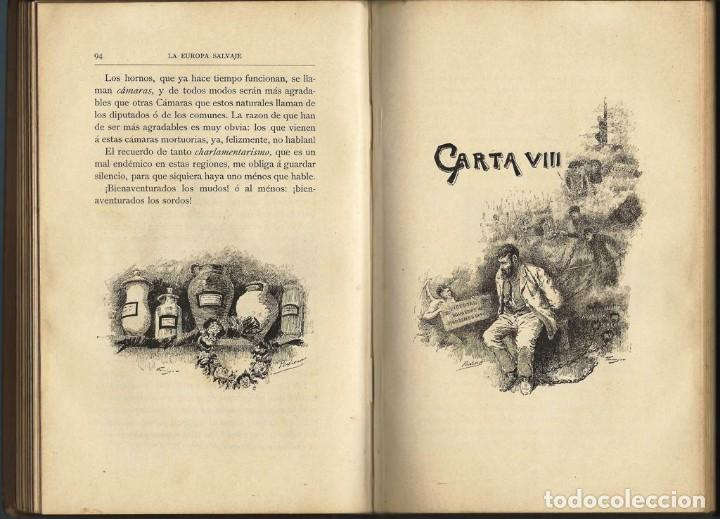 Libros antiguos: LA EUROPA SALVAJE. EXPLORACIONES AL INTERIOR DE LA MISMA. - Foto 4 - 119139891