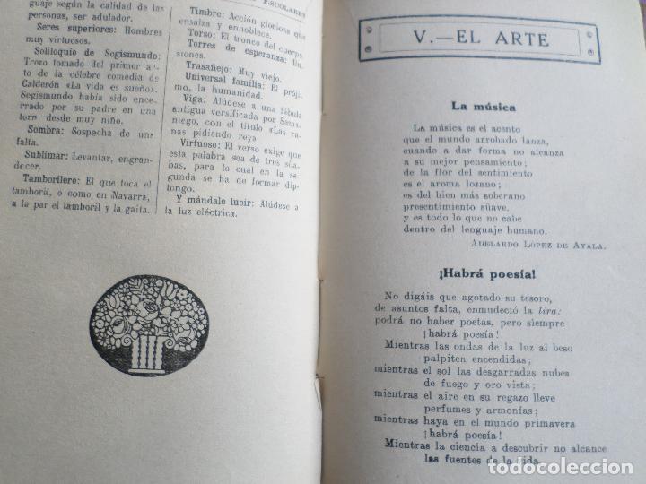 Libros antiguos: LIBRO DE ESCUELA RECITACIONES ESCOLARES 1921 - Foto 2 - 119246519