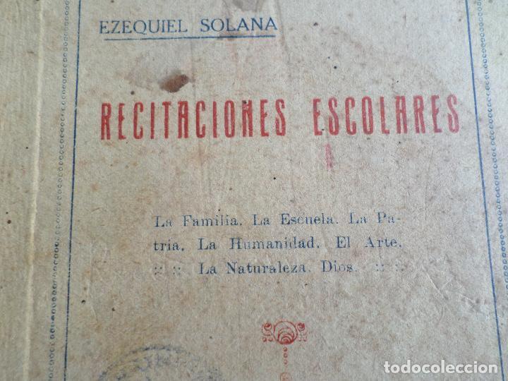 Libros antiguos: LIBRO DE ESCUELA RECITACIONES ESCOLARES 1921 - Foto 4 - 119246519
