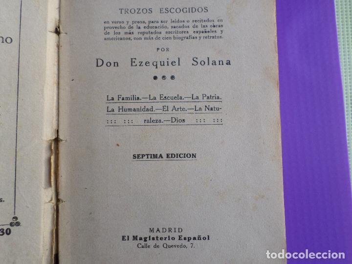 Libros antiguos: LIBRO DE ESCUELA RECITACIONES ESCOLARES 1921 - Foto 8 - 119246519