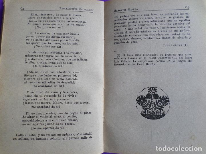 Libros antiguos: LIBRO DE ESCUELA RECITACIONES ESCOLARES 1921 - Foto 10 - 119246519