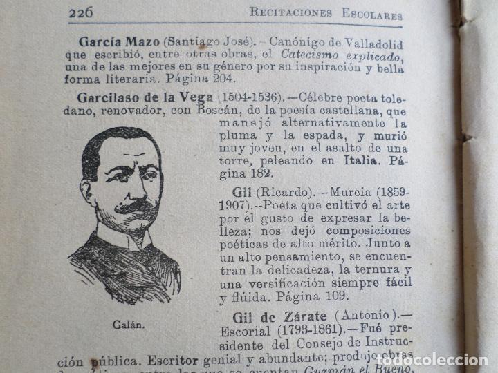 Libros antiguos: LIBRO DE ESCUELA RECITACIONES ESCOLARES 1921 - Foto 13 - 119246519