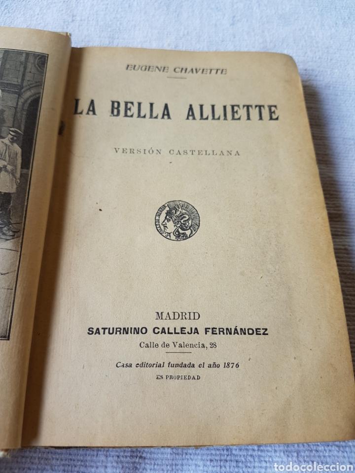 Libros antiguos: La bella alliette Calleja - Foto 3 - 119254888