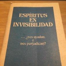 Alte Bücher - Espíritus en Invisibilidad testigos de jehova 1978 64 páginas - 119259991