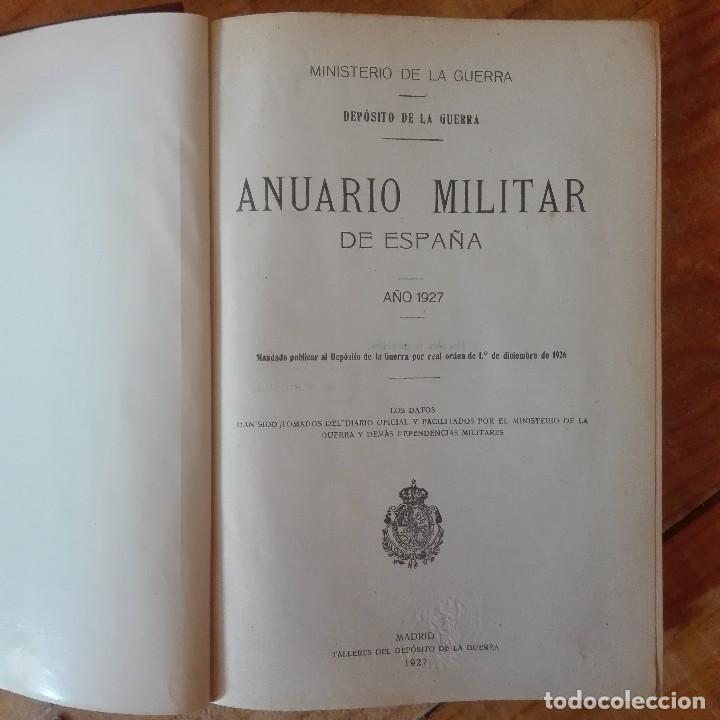 Libros antiguos: Anuario Militar De España 1927 - Foto 3 - 119266763