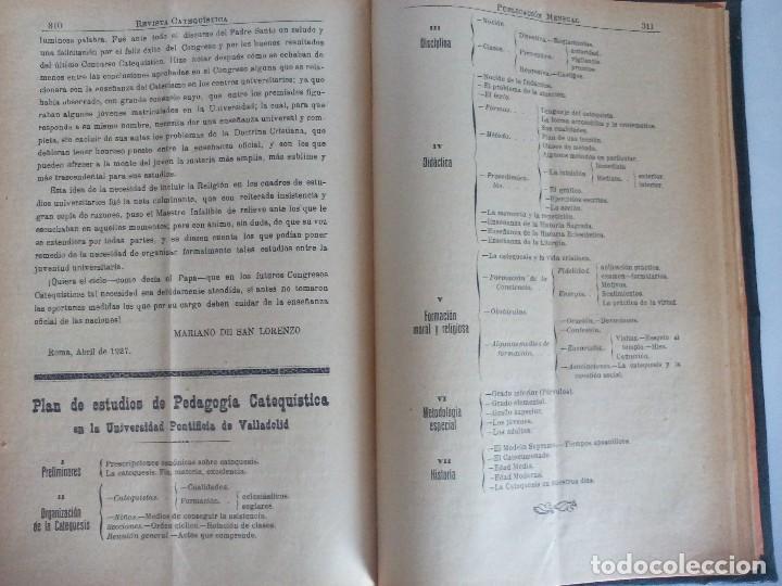 Libros antiguos: Revista catequística 1926/1927 - Foto 2 - 119362063