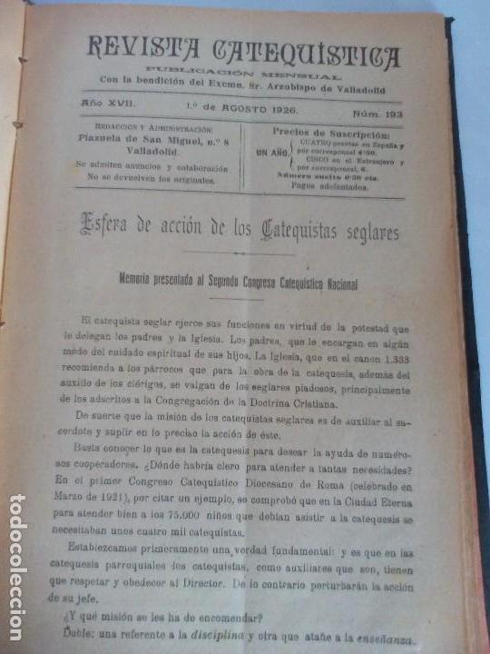 REVISTA CATEQUÍSTICA 1926/1927 (Libros Antiguos, Raros y Curiosos - Bellas artes, ocio y coleccionismo - Otros)