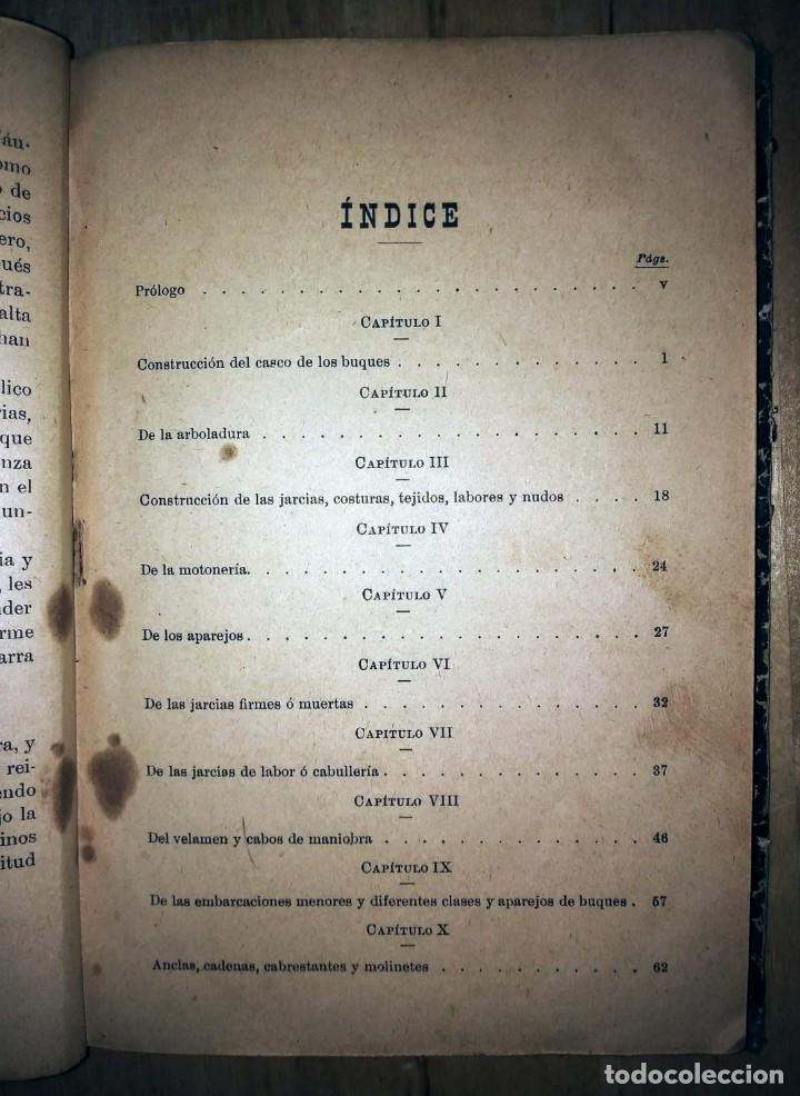 Libros antiguos: Cartilla maritima manual construcción y maniobras buques barcos vela veleros náutica Fontecha - Foto 3 - 119392255