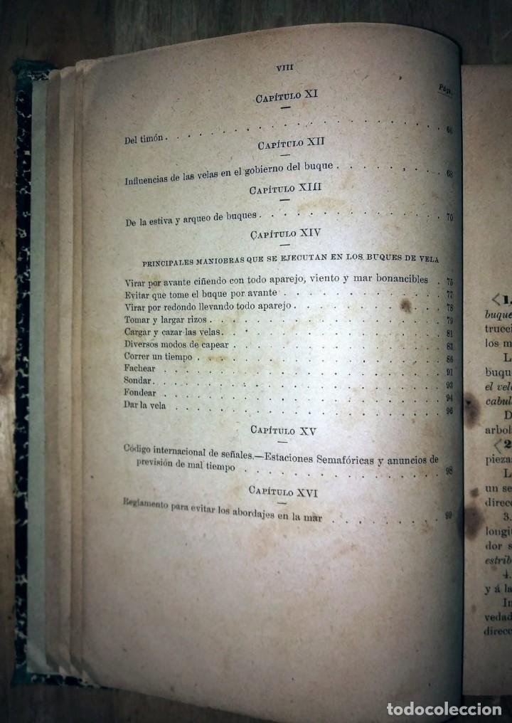 Libros antiguos: Cartilla maritima manual construcción y maniobras buques barcos vela veleros náutica Fontecha - Foto 4 - 119392255