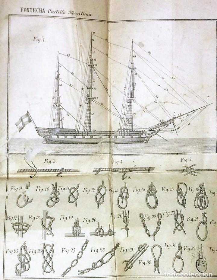 Libros antiguos: Cartilla maritima manual construcción y maniobras buques barcos vela veleros náutica Fontecha - Foto 7 - 119392255