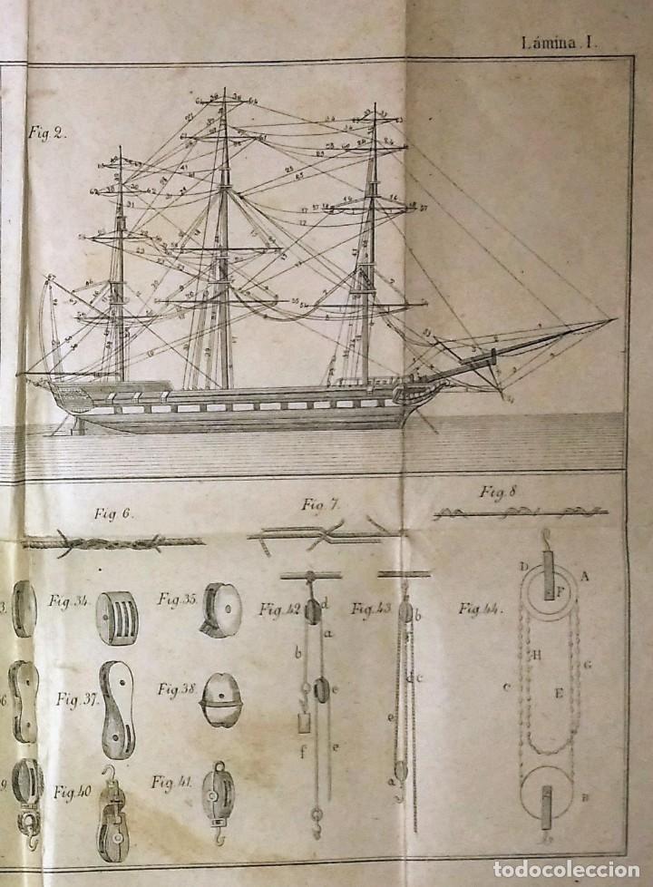 Libros antiguos: Cartilla maritima manual construcción y maniobras buques barcos vela veleros náutica Fontecha - Foto 8 - 119392255