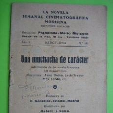 Libros antiguos: LA NOVELA CINEMATOGRÁFICA MODERNA. BARCELONA. Lote 119429023