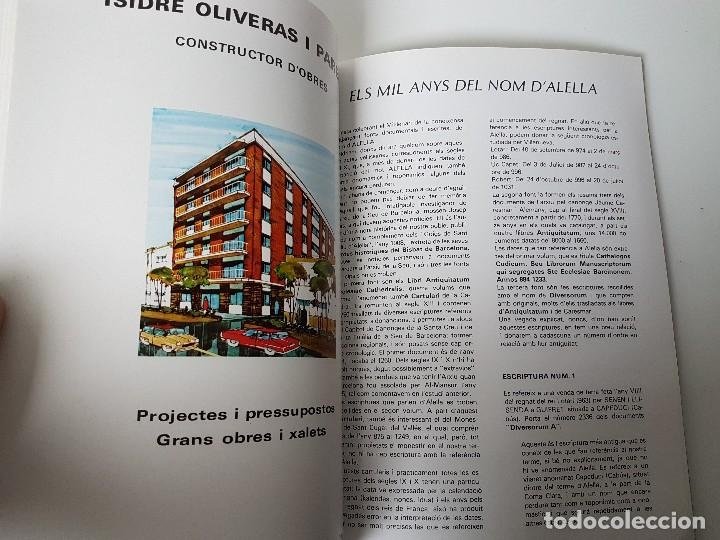 Libros antiguos: HISTÓRIA PROGRAMA DE ALELLA MIL.LENARI ( 975 - 1975 ) - Foto 7 - 119451187