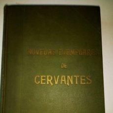 Libros antiguos: NOVELAS EJEMPLARES DE CERVANTES Y TRECE POESIAS SUELTAS, CUBIERT ORIGINALES COLOR VERDE. ILUSTRADO. Lote 119478215