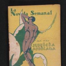 Libros antiguos: JUSTICIA AFRICANA. JOSE MAS. Lote 119506279
