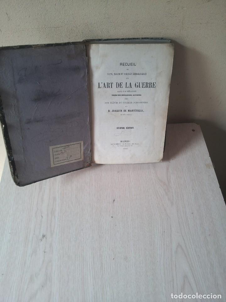 D.JOAQUIN DE MARTITEGUI - L'ART DE LA GUERRE - SECONDE EDITION 1865 - IDIOMA FRANCES (Libros Antiguos, Raros y Curiosos - Otros Idiomas)