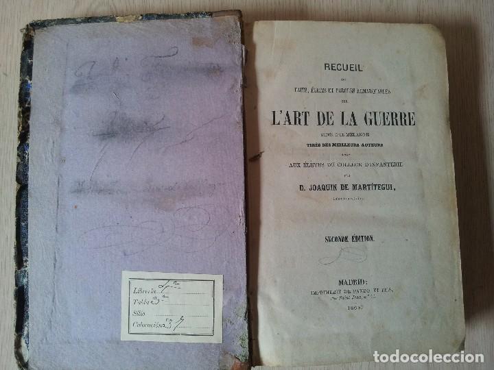 Libros antiguos: D.JOAQUIN DE MARTITEGUI - LART DE LA GUERRE - SECONDE EDITION 1865 - IDIOMA FRANCES - Foto 2 - 119530831