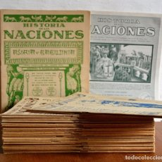 Libros antiguos: LOTE DE 60 FASCICULOS HISTORIA DE LAS NACIONES VER NUMEROS EN EL INTERIOR LAMINAS A COLOR . Lote 119597083