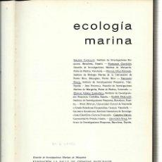Libros antiguos: ECOLOGÍA MARINA.. Lote 119850595