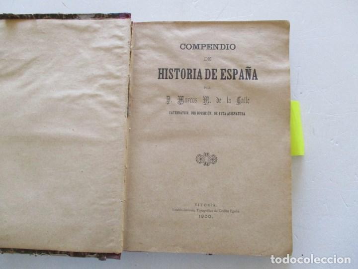 Libros antiguos: D. MARCOS M. DE LA CALLE Compendio de Historia de España. Tomo 1 y 2 RM86142 - Foto 2 - 119970467