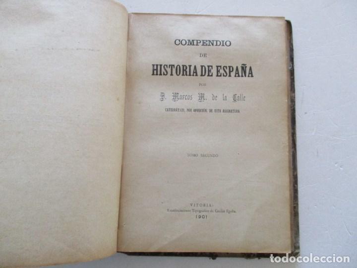 Libros antiguos: D. MARCOS M. DE LA CALLE Compendio de Historia de España. Tomo 1 y 2 RM86142 - Foto 3 - 119970467