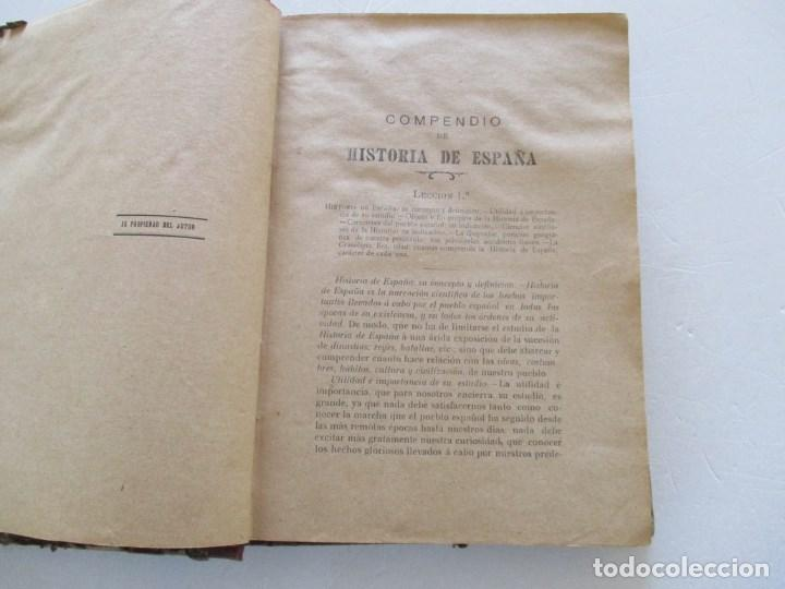 Libros antiguos: D. MARCOS M. DE LA CALLE Compendio de Historia de España. Tomo 1 y 2 RM86142 - Foto 5 - 119970467