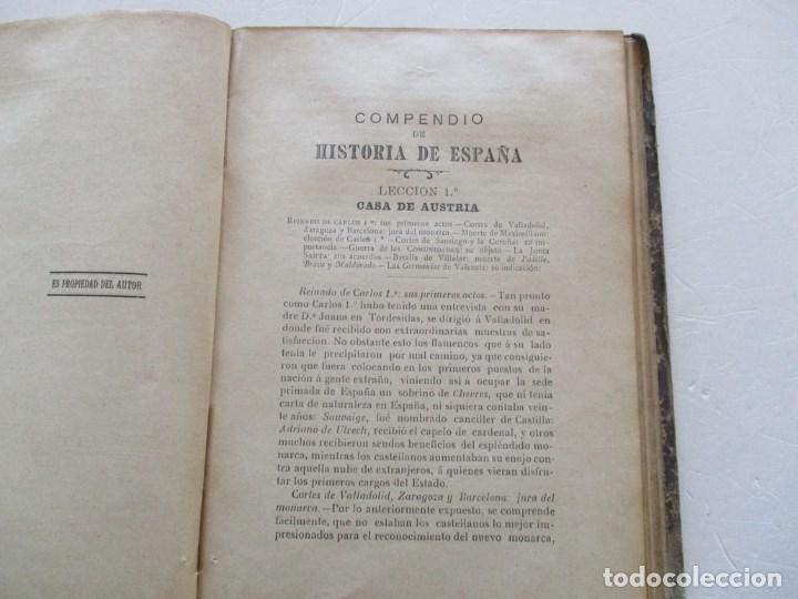 Libros antiguos: D. MARCOS M. DE LA CALLE Compendio de Historia de España. Tomo 1 y 2 RM86142 - Foto 6 - 119970467