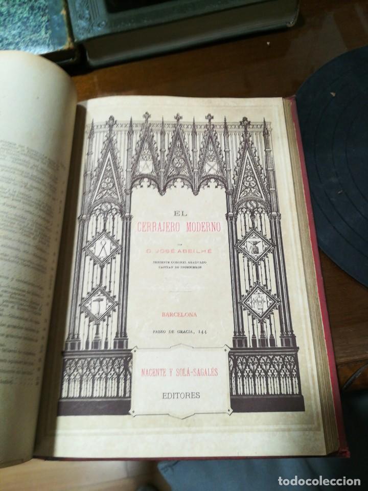 Libros antiguos: El cerrajero moderno - Foto 4 - 120026319