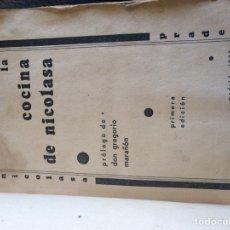 Libros antiguos: LA COCINA DE NICOLASA 1933. Lote 120036847
