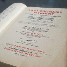 Libros antiguos: L'ART CULINAIRE MODERNE (1937) - 3500 RECETAS, 50 MENUS, ILUSTRADO EN B/N Y A COLOR. Lote 120099092