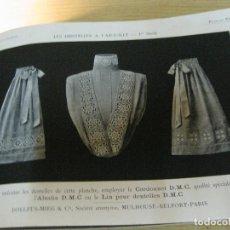 Libros antiguos: PRECIOSO LIBRO DE MUESTRAS DE BORDADOS DENTELLES A L'AGUILLE 1 SERIE PUNTAS PUNTILLAS PATRONES . Lote 120101427