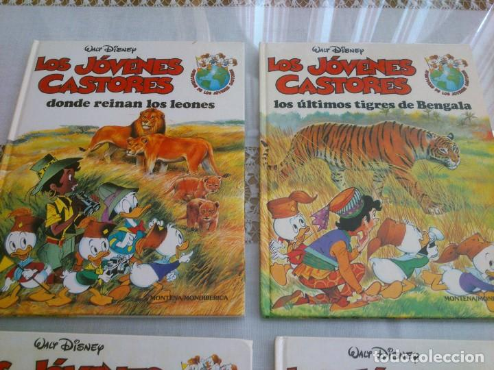 Libros antiguos: LOTE DE 8 LIBROS DE LOS JOVENES CASTORES DE WALT DISNEY - Foto 3 - 120135691