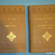 Libros antiguos: PROSES DE BON SENY (2 VOLUMS) - JAUME RAVENTOS - EDITORIAL IBERICA, 1915 (TAPA DURA, BON ESTAT). Lote 120337203