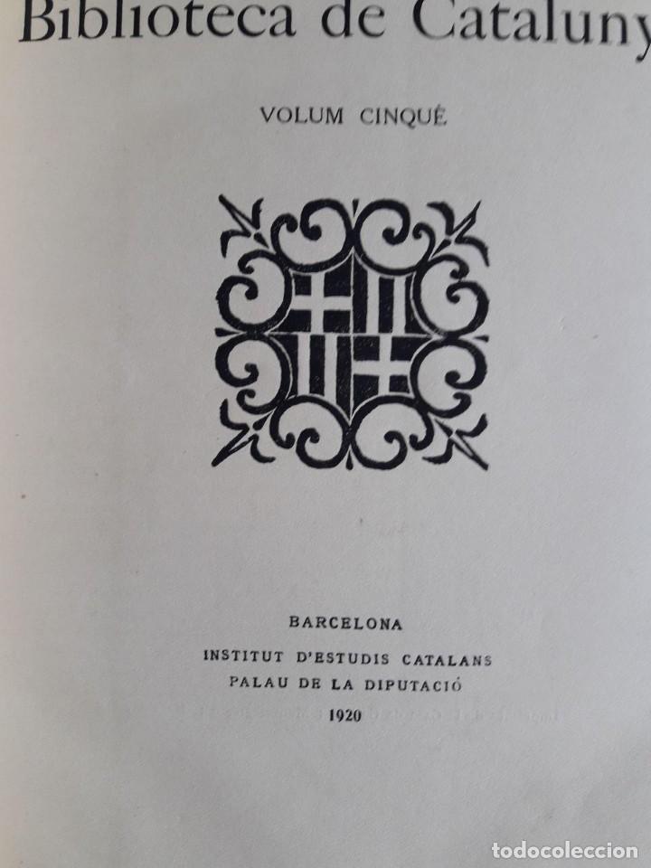 BUTLLETÍ DE LA BIBLIOTECA DE CATALUNYA / VOLUM CINQUÈ 1918 -19 / EDIT. INST. D'ESTUDIS CATALANS / 19 (Libros Antiguos, Raros y Curiosos - Ciencias, Manuales y Oficios - Otros)
