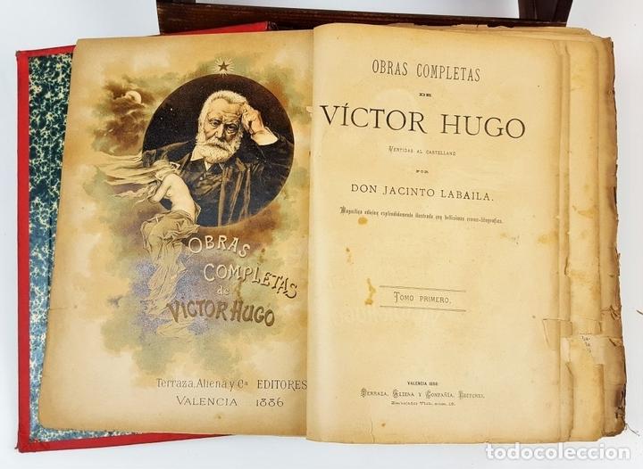 Libros antiguos: OBRAS COMPLETAS DE VICTOR HUGO. TOMO I. JACINTO LABAILA. 1886. - Foto 3 - 120528183