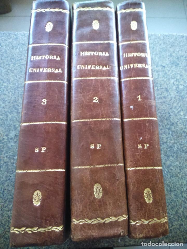 HISTORIA UNIVERSAL -- CESAR CANTU -- TRES PRIMEROS TOMOS -- GASPAR Y ROIG EDITORES - 1854 -- (Libros Antiguos, Raros y Curiosos - Historia - Otros)