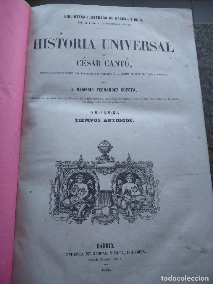 Libros antiguos: HISTORIA UNIVERSAL -- CESAR CANTU -- TRES PRIMEROS TOMOS -- GASPAR Y ROIG EDITORES - 1854 -- - Foto 3 - 120721783