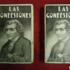 Libros antiguos: LAS CONFESIONES. ROUSSEAU. MAUCCI. Lote 120800327