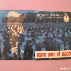 Libros antiguos: LIBRETA DE NUEVO RECETARIO SWIFT. Y BLOCK DE 6 LAMINAS DE RECETAS. CARNE PARA EL MUNDO. ARGENTINA.. Lote 120814351