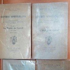 Libros antiguos: EUVRES SPIRITUELLES DE SAINT JEAN DE LA CROIX. Lote 120815299